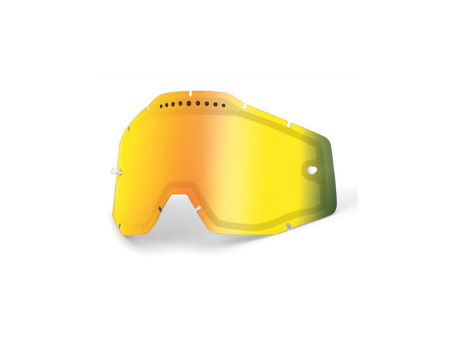 100% Vented Dual Replacement Lenses gold / mirror